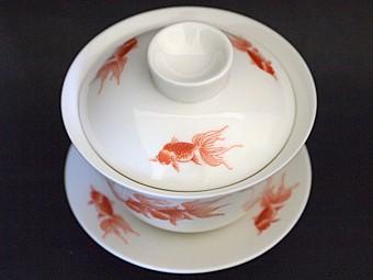 風清堂金魚蓋碗ふたあり