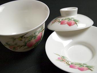 風清堂寿桃蓋茶碗ふたなし